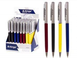 """Ручка автоматическая шариковая 0.7мм """"Гармония"""" синяя AL4773 Alingar {Китай}"""