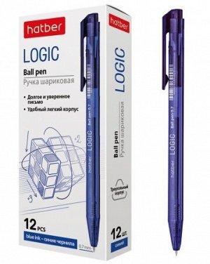 """Ручка автоматическая шариковая масляная 0.7мм """"LOGIC"""" синяя (067908) Хатбер {Китай}"""