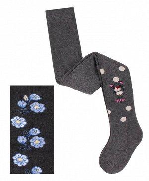Серые махровые колготки для девочки Цвет: серый