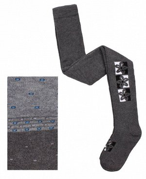 Махровые серые колготки для девочки Цвет: серый