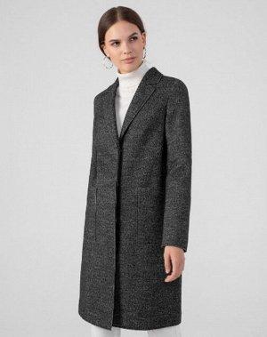 Пальто ОСОБЕННОСТИ: Стильное пальто без лишних деталей, выполнено из практичного темно-серого твида. 60% натуральной шерсти в составе Ультратонкая мембрана делает пальто непродуваемым Английский ворот