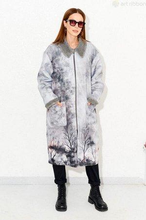 Пальто Трендовое пальто с неповторимым принтом на меховой подкладке непременно сделает Ваш образ притягательным и ярким. Оно не только уютное и теплое, но и стильное и комфортное. Пальто прямого силуэ