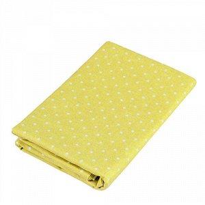 Скатерть  Ассорти  145х180, рогожка, 100 % хлопок,  Горошек жёлтый