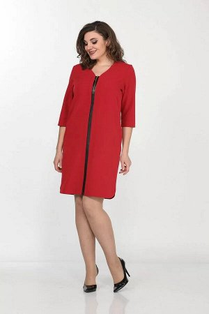 Lady Style Classic 1034 малиновый-коралл, Платье