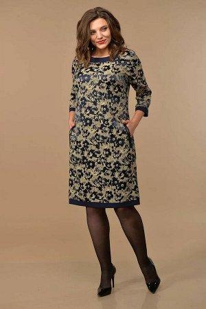 Lady Style Classic 1427 т.синий-беж, Платье