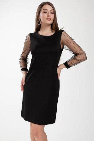 """Платье """"Платье женское, полуприлегающего силуэта, расширенное книзу. Круглый вырез горловины. С разрезом от горловины, застегивающимся на навесную петлю и пуговицу """" Перед с двумя нагрудными вытачками"""
