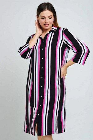 Платье Платье-рубашка,из 100% рэвона. Отлично подойдет как самостоятельное изделие, так и в комплекте с шортами и брюками. Вытягивает силуэт и создает актуальный образ.Легкое платье прямого кроя с цен