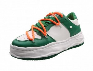 Женские кроссовки, цвет зеленый