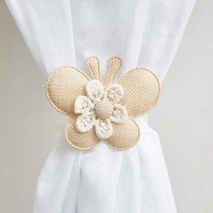 Бабочка текстиль подхват-магнит (2шт)
