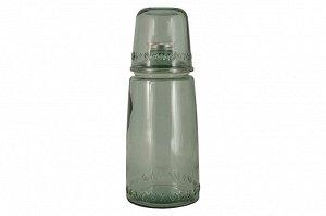 Бутылка для воды 1л со стаканом 0,22 л Natural  Water, зелёные