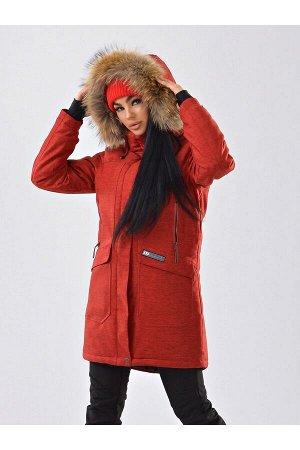Женская куртка-парка Azimuth B 21802_98 Коралл