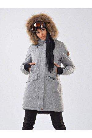Женская куртка-парка Azimuth B 21802_101 Светло-серый