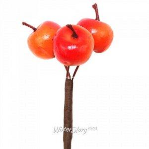 Искусственные Яблоки для букетов 50 см оранжевые (Hogewoning)