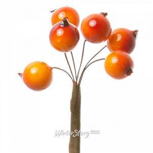 Декоративные ягоды Шиповника для букетов 6 шт*50 см оранжевые (Hogewoning)