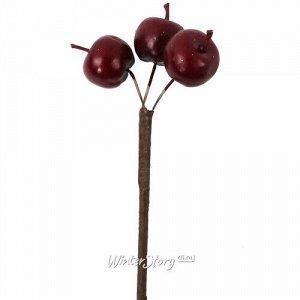 Искусственные Яблоки для букетов 50 см бордовые (Hogewoning)