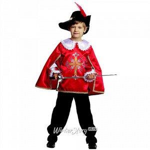 Карнавальный костюм Мушкетер, красный, рост 104 см (Батик)