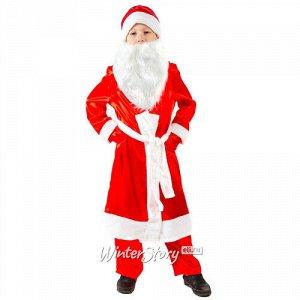 Карнавальный костюм Дед Мороз атласный, рост 92 см (Бока С)