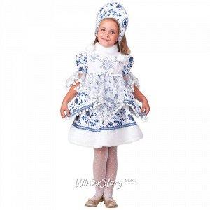 Карнавальный костюм Снегурочка Внучка, рост 104 см (Батик)