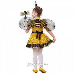Карнавальный костюм Пчелка с блестками, рост 110 см (Батик)