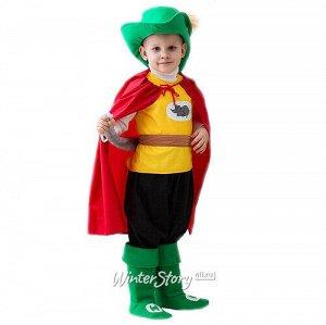Карнавальный костюм Кот в сапогах красно-зеленый, рост 104-116 см (Бока С)