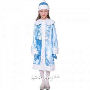 Карнавальный костюм Девочка Снегурочка атласный, рост 122-134 см (Бока С)