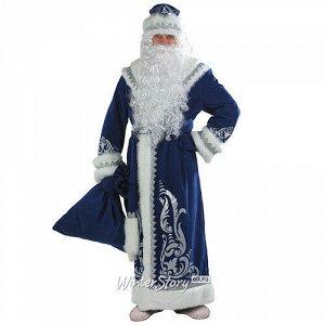 Карнавальный костюм для взрослых Дед Мороз с аппликациями, синий, 54-56 размер (Батик)