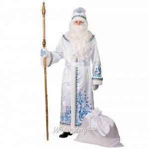 Карнавальный костюм для взрослых Дед Мороз Узорчатый белый, 54-56 размер (Батик)