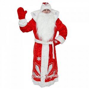 Взрослый карнавальный костюм Дед Мороз Люкс, 52-54 размер (Бока С)