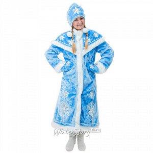 Взрослый новогодний костюм Снегурочка Люкс, 44-50 размер (Бока С)