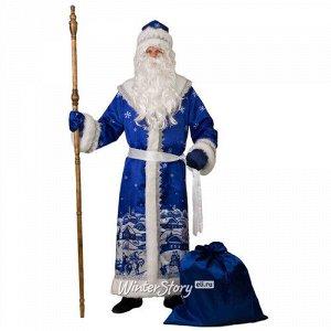 Карнавальный костюм для взрослых Дед Мороз - Роспись Гжель, 54-56 размер (Батик)