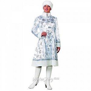 Карнавальный костюм для взрослых Снегурочка, серебристый, 48-50 размер (Батик)