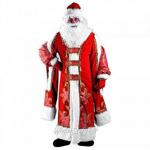 Карнавальный костюм для взрослых Дед Мороз Царский, 54-56 размер (Батик)