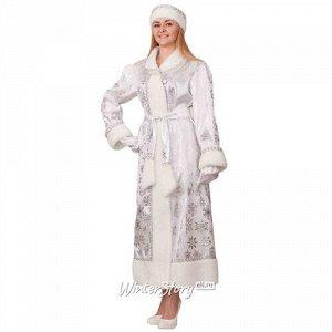 Карнавальный костюм для взрослых Снегурочка Белоснежка, 46 размер (Батик)