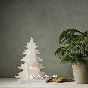 Новогодний светильник Magically Wood: Волшебный олень 41 см, 15 теплых белых LED ламп, на батарейках (Star Trading)