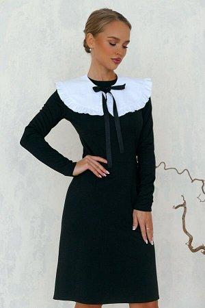 Платье Строгое платье офисного стиля перекликается с нарядом для школьницы. Многие модные дома подхватили этот тренд и сделали его одним из важных условий модного образа. Классическая чёрная модель ун