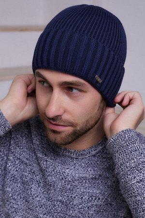 Мужская шапка Джон Синий