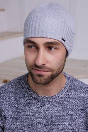 Мужская шапка Марко Серый