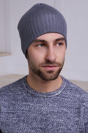 Мужская шапка Марко Серый Темный