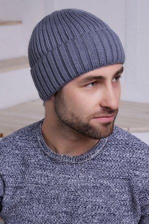 Мужская шапка Остин Темно-серый
