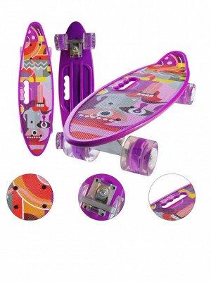 Скейтборд с ручкой и принтом колеса свет Абстракция