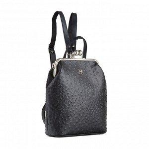 Рюкзак Полукаркасный женский рюкзак из новой коллекции Stellar. Особенность рюкзака в том, что его можно носить как сумку, всего лишь перестегнув ремень. Смотрится очень стильно и оригинально за счет