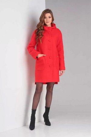 Женское пальто Diamant 1370 красный