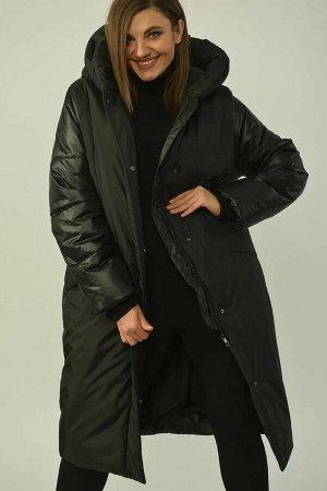 Пальто Пальто женское, полуприлегающего силуэта , с центральной застёжкой на тесьму-молнию, планку с потайными кнопками. По переду рельефные швы от проймы, прорезные карманы с широкими листочками. Рук