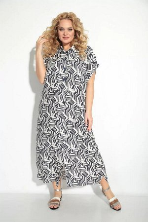 Платье Платье рубашечного типа, свободного облегания- выполнено из лёгкой тонкой ткани. Универсальность кроя сделают его любимым изделием Вашего гардероба в наступающем сезоне. По переду застегивается