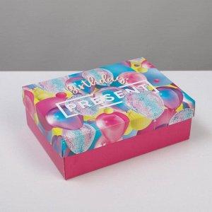 Коробка складная «С днем рождения»,  21 ? 15 ? 7 см