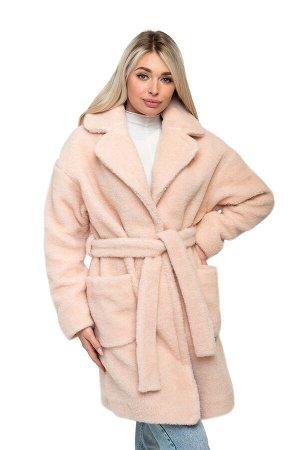 Пальто ELEGANT FUR цвет Пудра