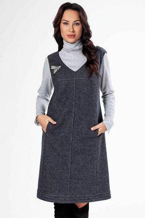 Сарафан Уникальный вид женского ассартимента- сарафан , особенно классического серого цвета, поскольку позволяет создать столько образов, сколько в Вашем гардеробе имеется блузок и джемперов.Трикотажн