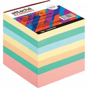 Блок для записей Attache Economy проклеенный 8х8х8, 5 цветов, 6...