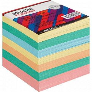 Блок для записей Attache Economy запасной 7,5х7,5х7,5, 5 цветов, ...