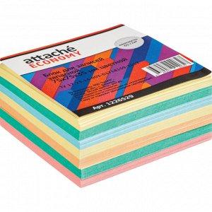 Блок для записей Attache Economy запасной 7,5х7,5х3,5, 5 цветов, ...